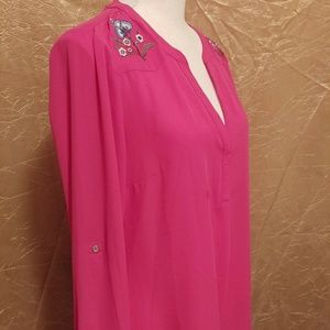 Size L NWT Candie's bright pink sheer top